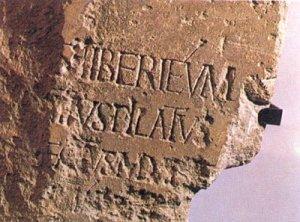 Tonscherbe mit Inschrift Pontius Pilatus