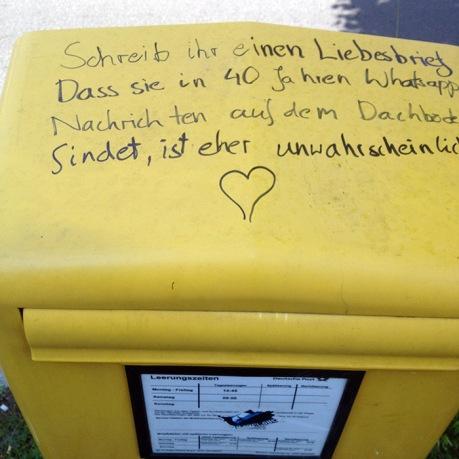 Old-school-Liebesbrief